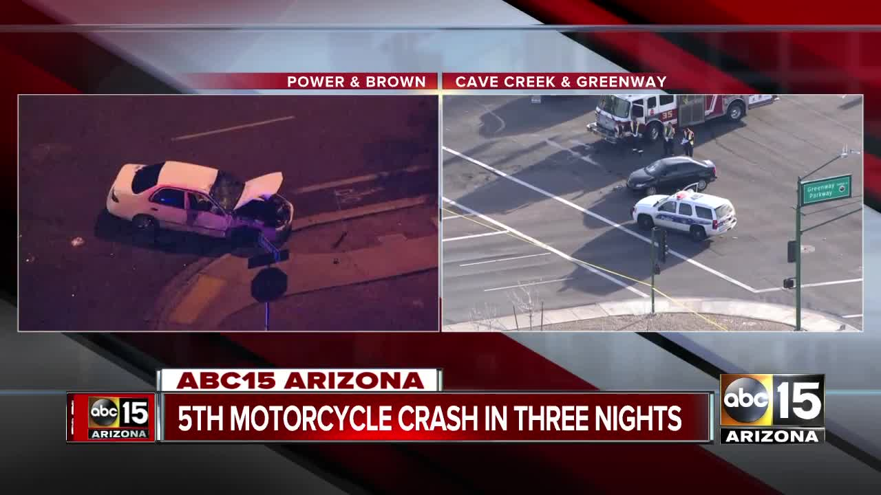 PD: Motorcyclist dies in crash near Power Road and