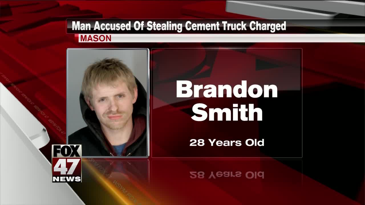 Man accused of stealing cement truck arraigned Friday