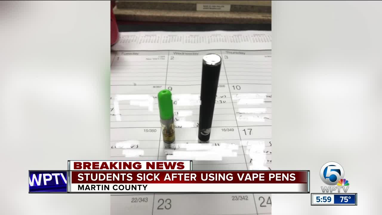 Three Martin County students hospitalized after smoking vape pens