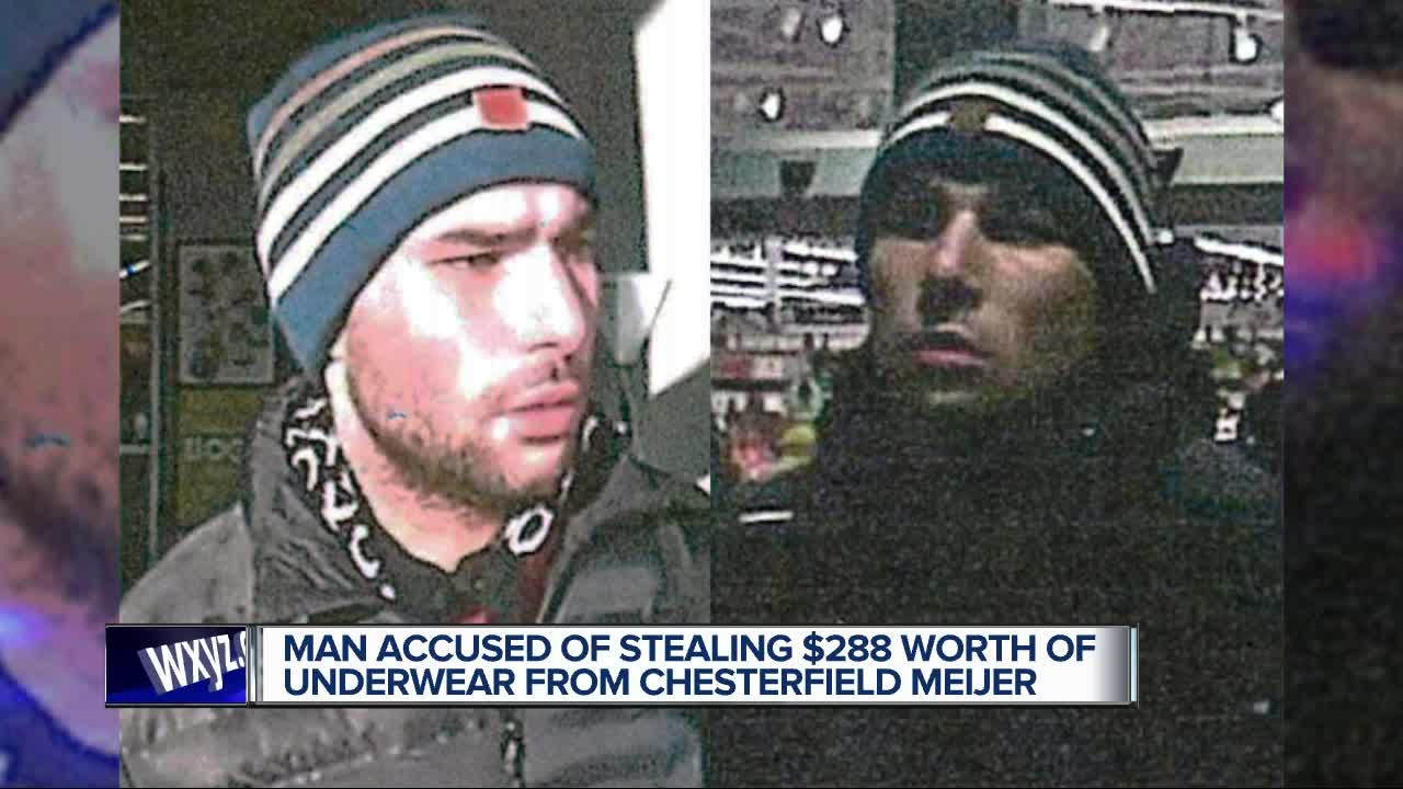 Man wanted for shoplifting nearly $300 in underwear from