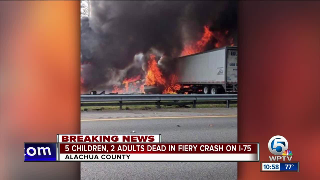 5 children heading to Disney killed in fiery crash on I-75
