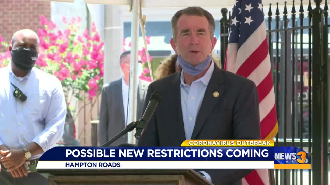 Virginia imposes new COVID-19 restrictions in eastern part of state