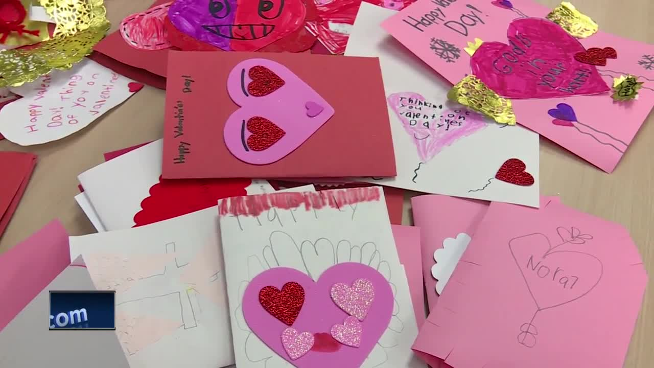 7yearold collects hundreds of valentine's day cards to