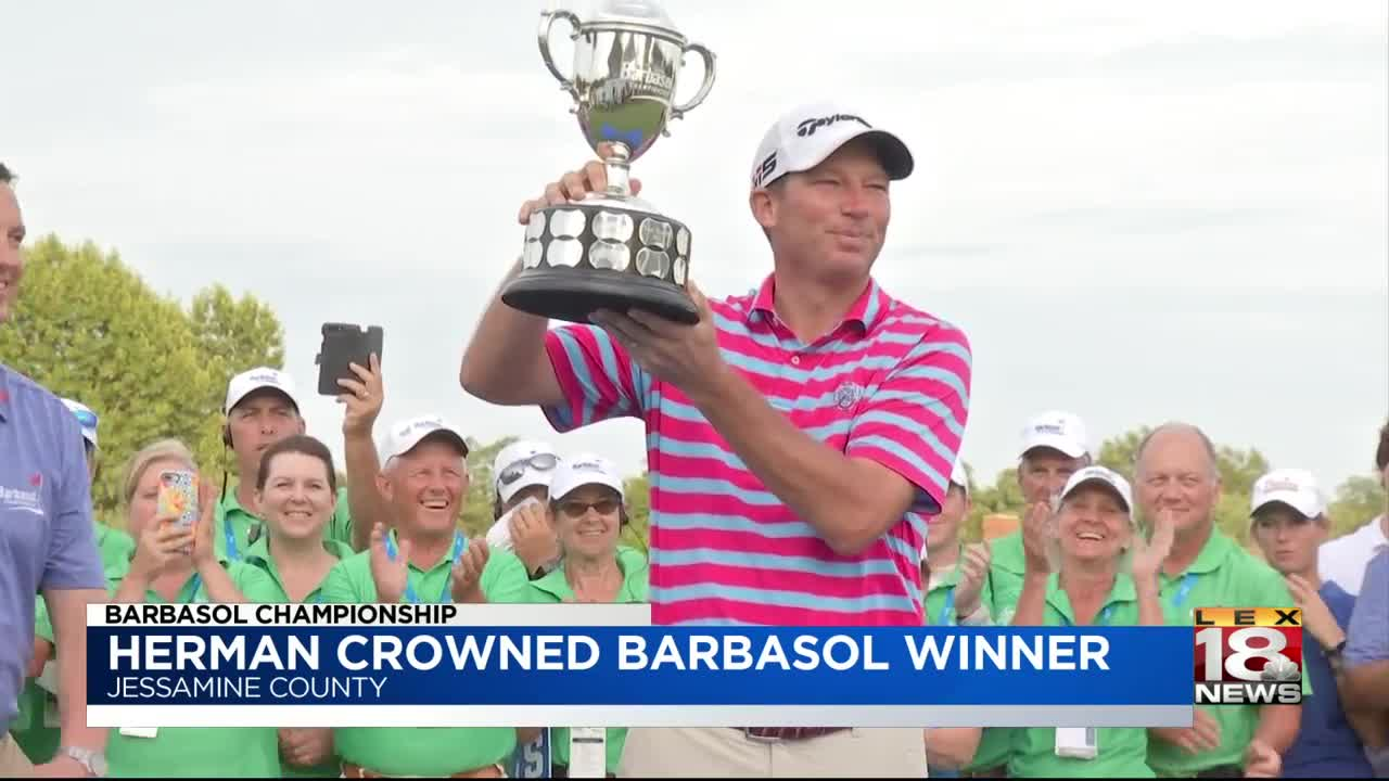 Herman plays Trump card to win Barbasol title