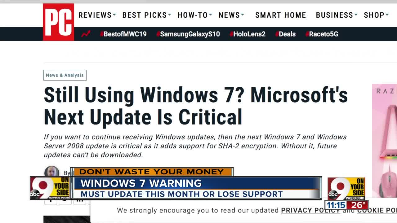 Still on Windows 7? You must do this critical update