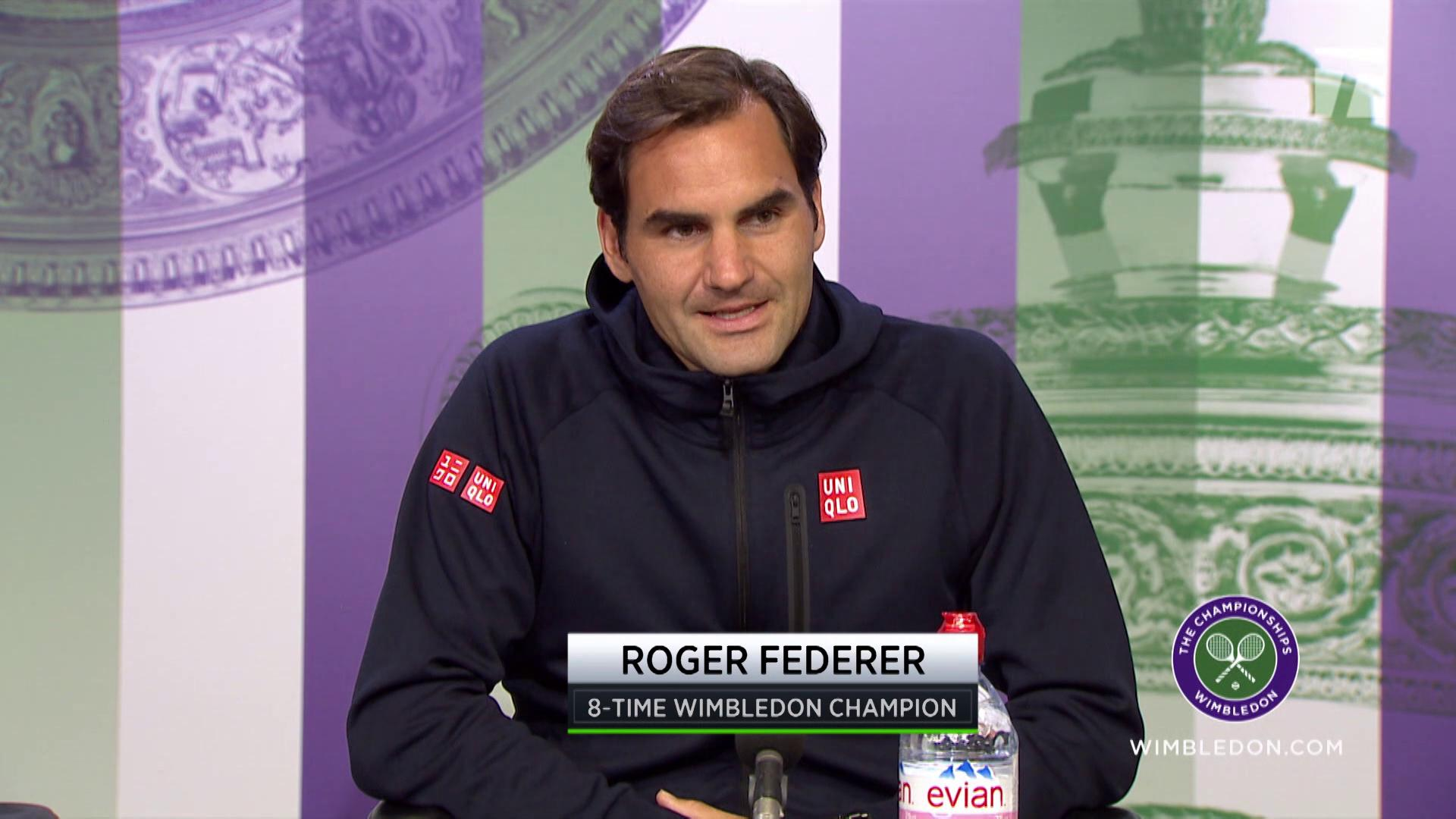 Federer S New Clothes At Wimbledon Roger Ditches Nike For Uniqlo Tennis Com Live Scores News Player Rankings