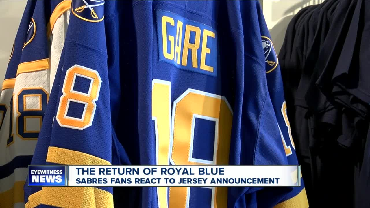 sports shoes 06cc6 4780e Royal Blue is coming back! Sabres to make jersey change in ...