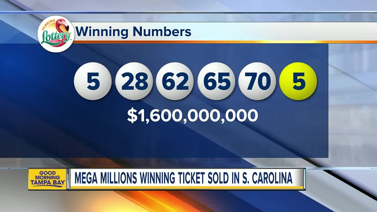 Winning 1 537b Mega Millions Jackpot Ticket Sold In Sc One Ticket Sold In Tampa Wins 1m