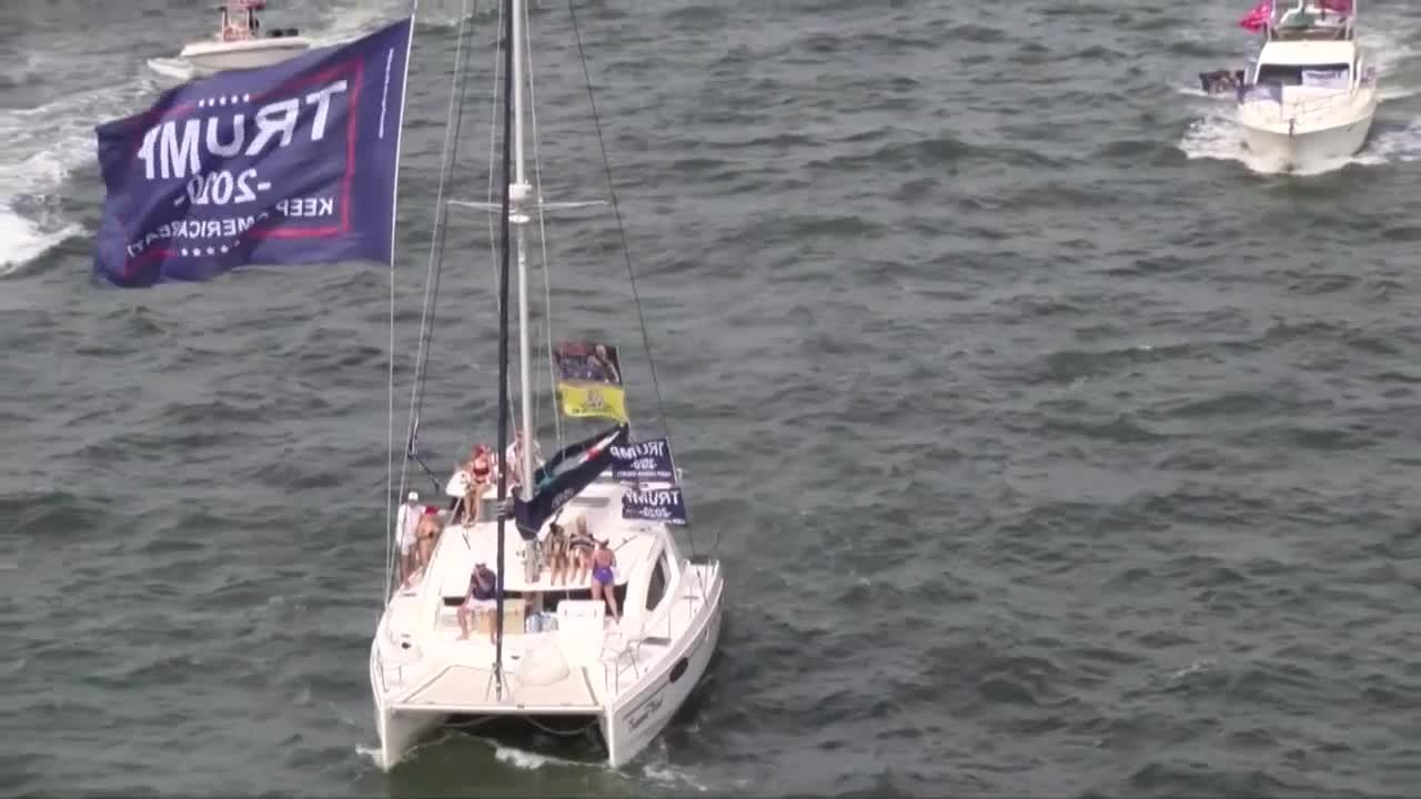 Last Trump Boat Parade Before Election Departs From Jupiter