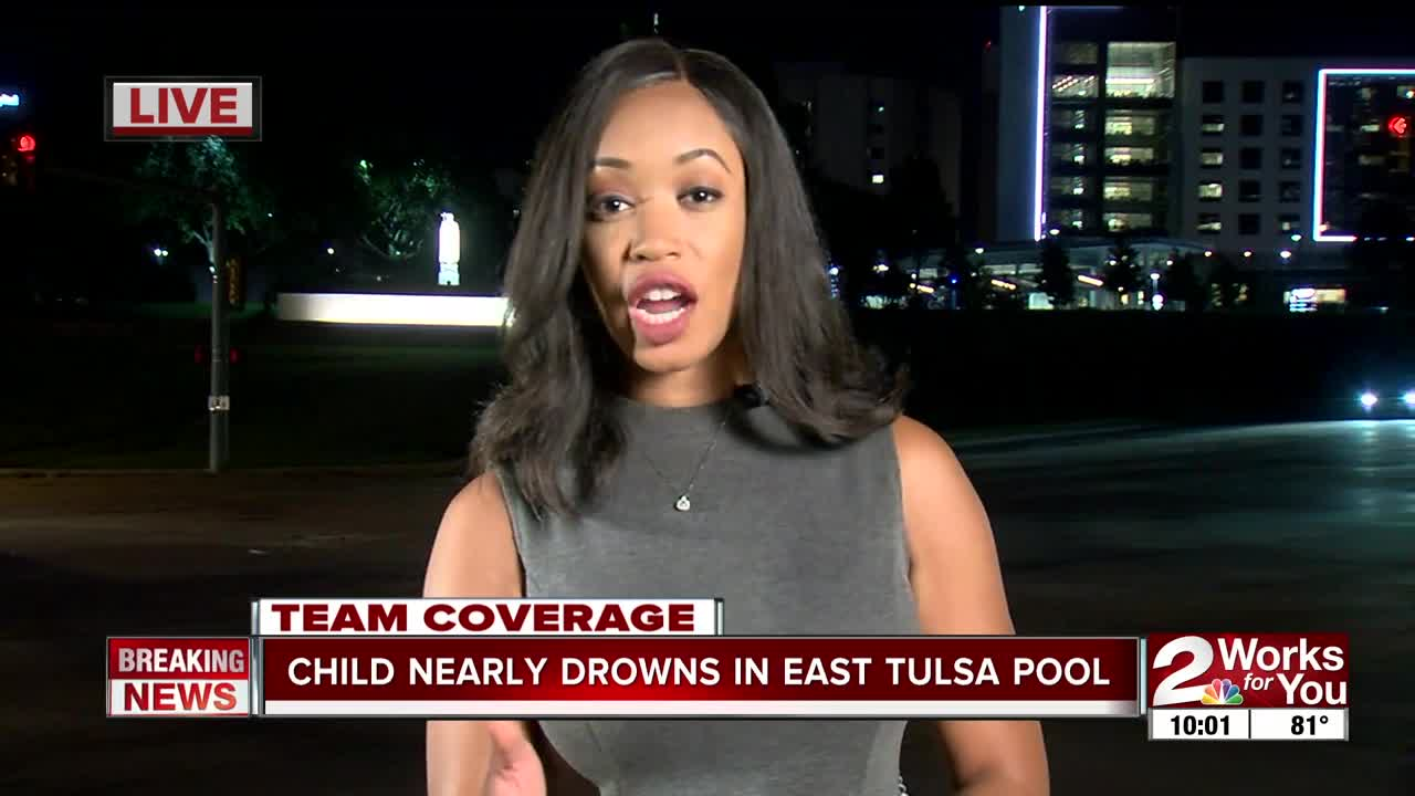 3-year-old nearly drowns, revived by EMSA at east Tulsa