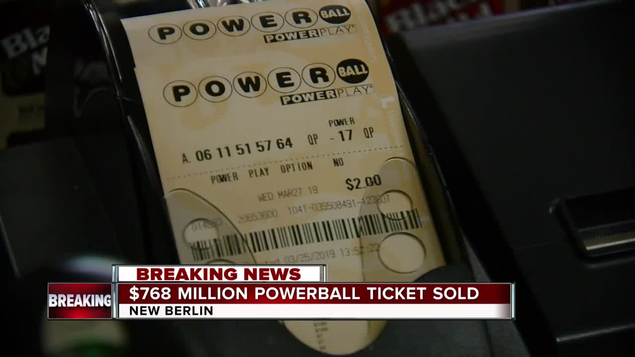 Winning 768m Powerball Ticket Sold In New Berlin Wisconsin