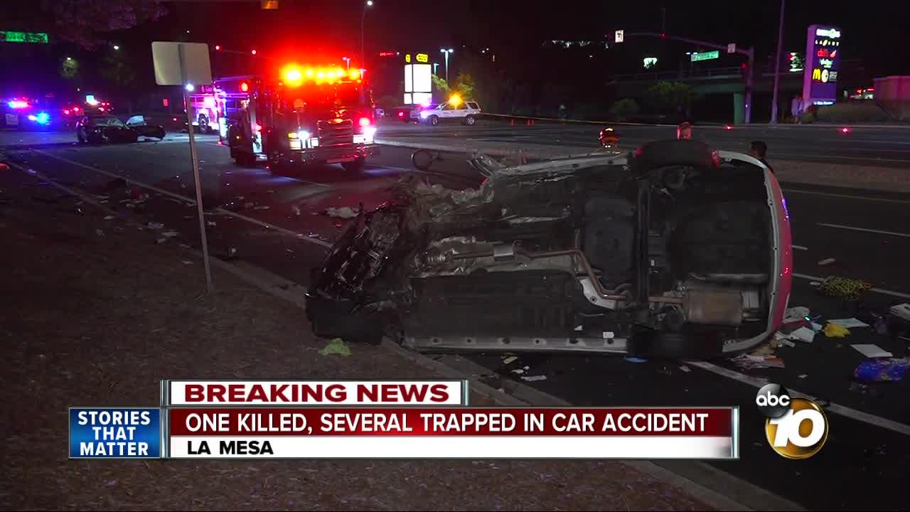 one killed in la mesa car crash