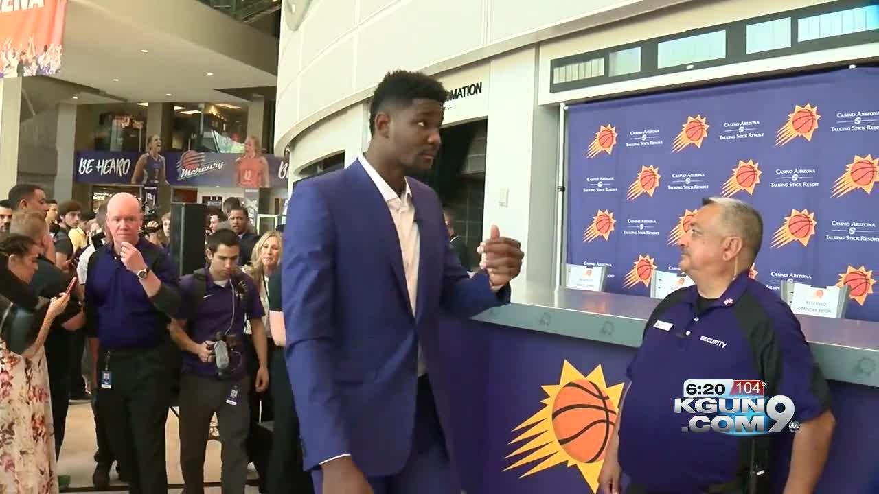 fd61ae45fd3 Suns introduce top draft pic Deandre Ayton. Gassnola testifies he ...