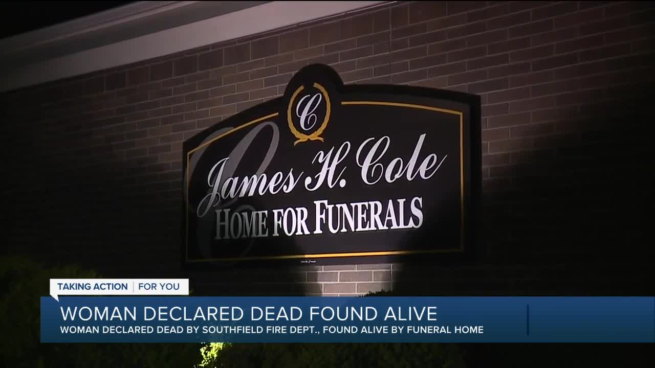 Detroit funeral home says woman ruled dead was still alive