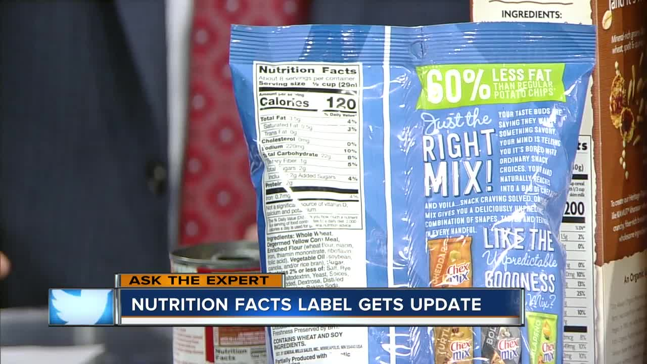 ask the expert nutrition label gets an update