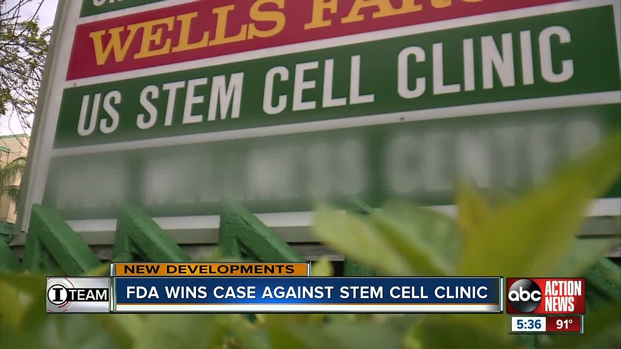 FDA wins case against Florida stem cell clinic where several