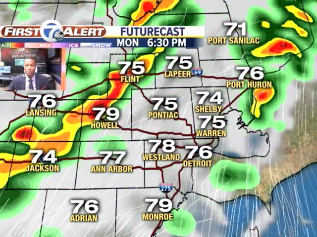 Showers and storms to start the work week