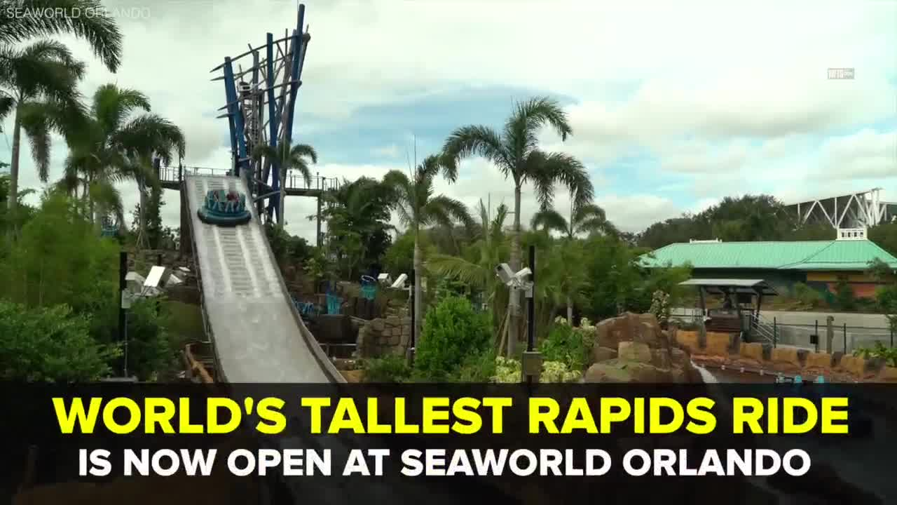 World's tallest rapids ride 'Infinity Falls' opens at