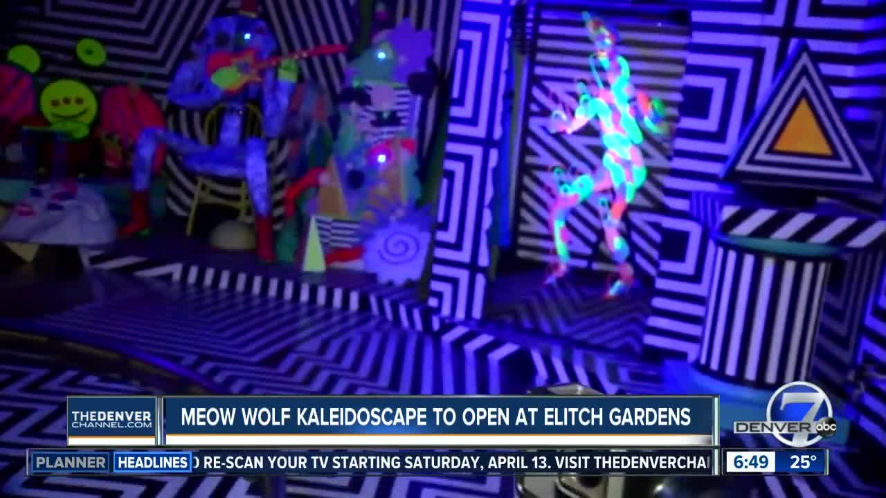 Meow Wolf's 'Kaleidoscape' art ride debuts at Elitch Gardens