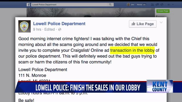 Lowell Police: Complete your Craigslist sales in our lobby