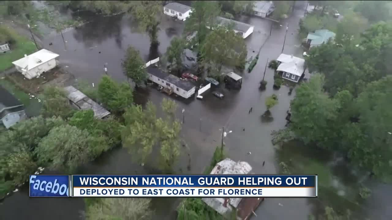 Two dozen Wisconsin National Guard troops helping with Florence