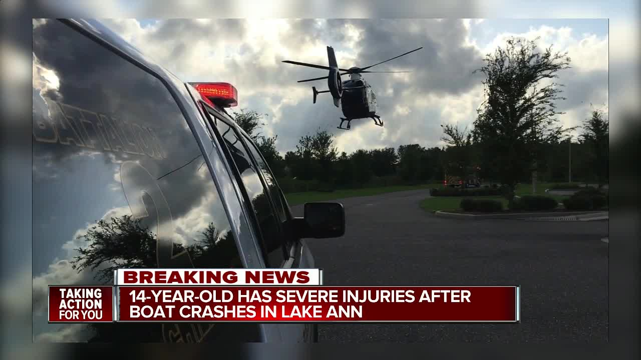Teen airlifted to hospital with serious injuries after