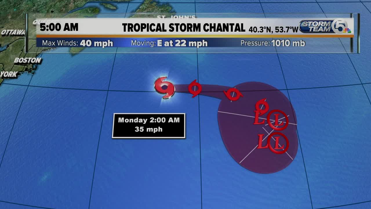 Tropical Storm Chantal forms in North Atlantic