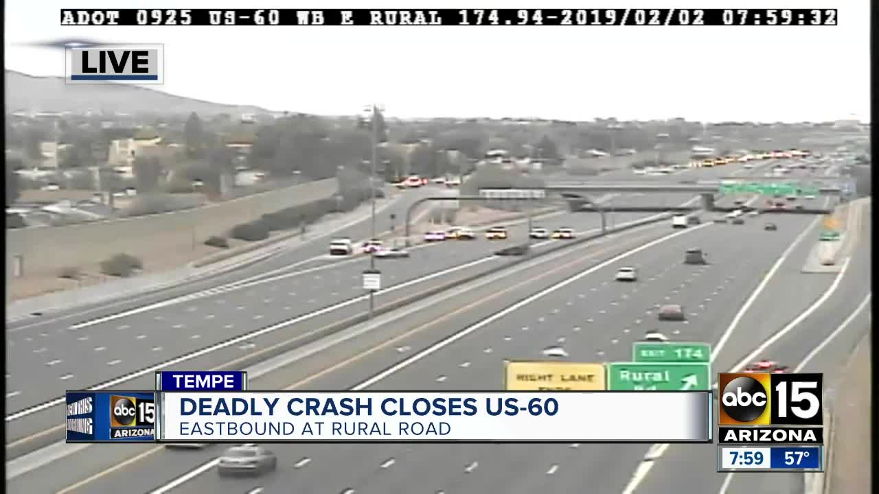 DPS: One person dead after rollover crash on US-60 EB at
