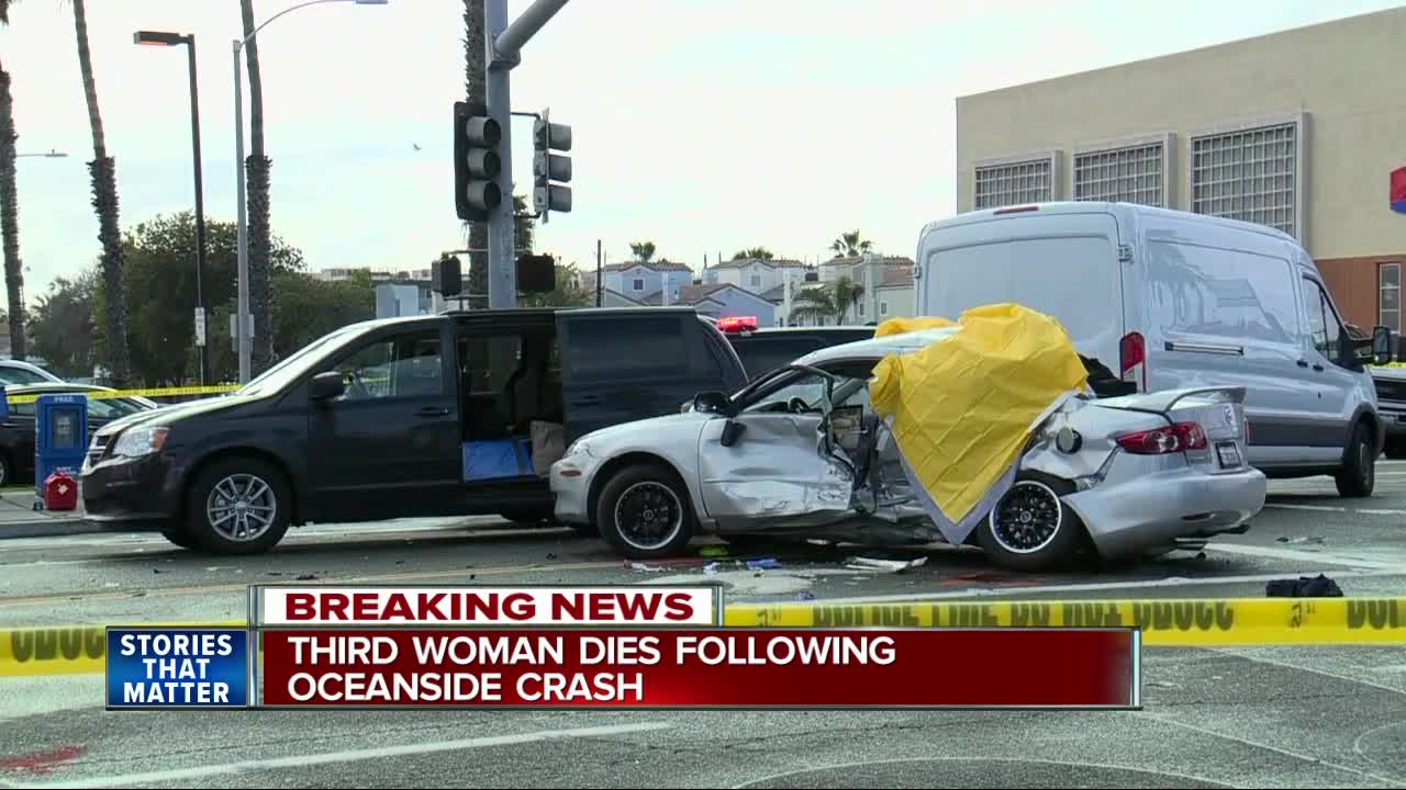 At least three dead in Oceanside car collision, police say