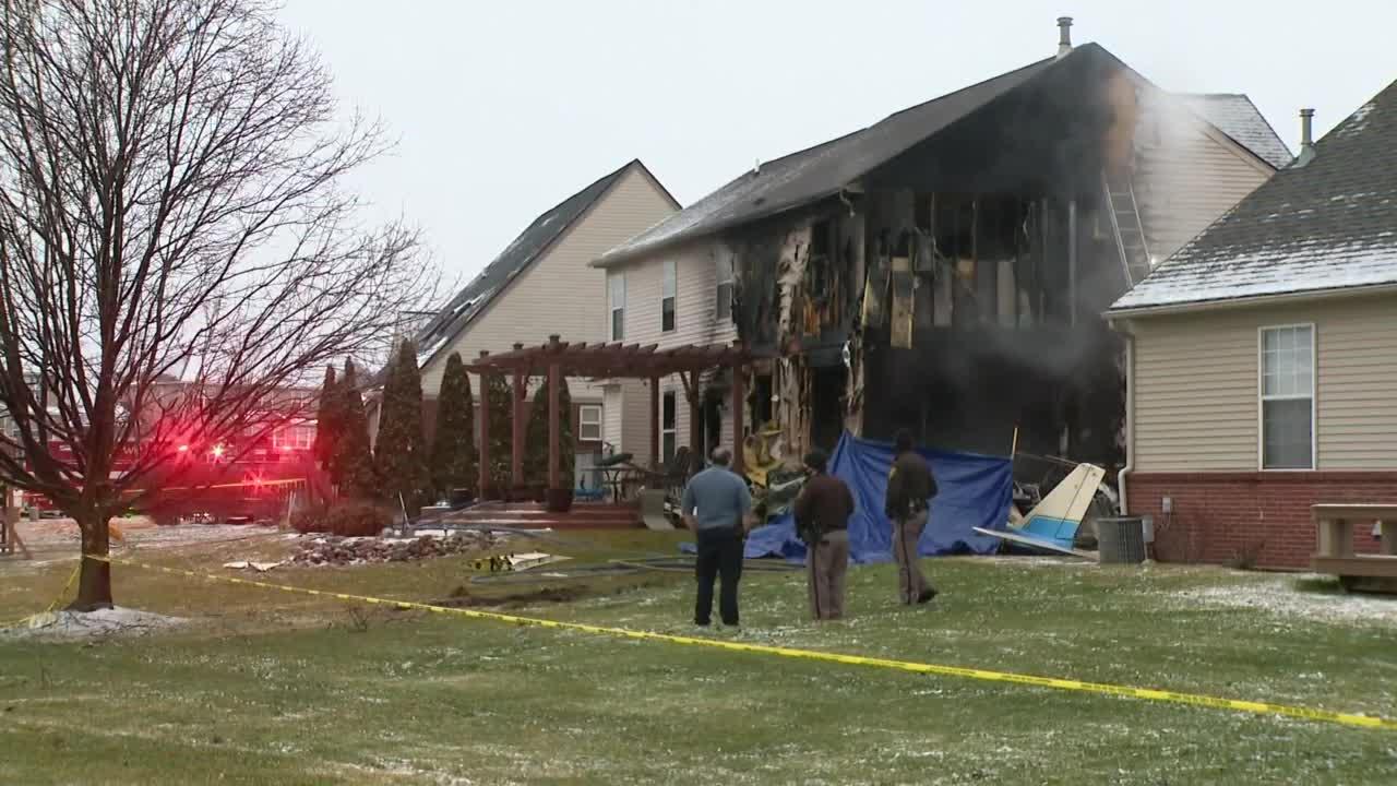 Crews responding to plane crash into home in Lyon Township