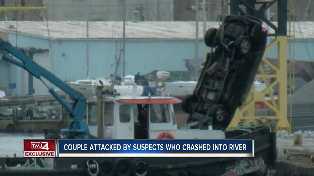 3 dead after vehicle crashes into river during police chase