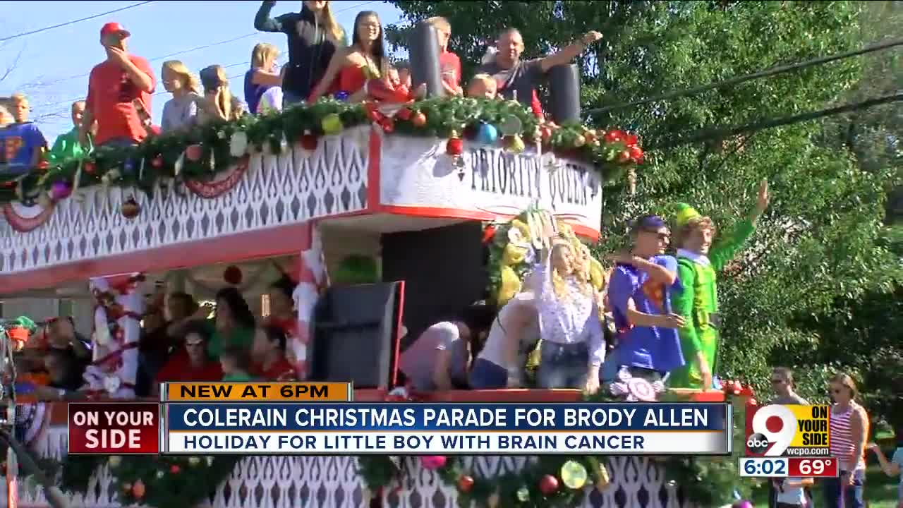 Brody Allen, 2-year-old with brain cancer, gets a Christmas parade ...