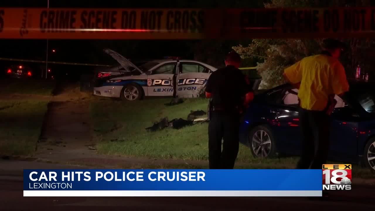 2 sent to hospital after crash involving Lexington officer