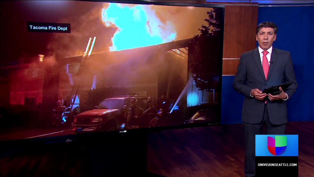Incendio destruye doce apartamentos en Tacoma