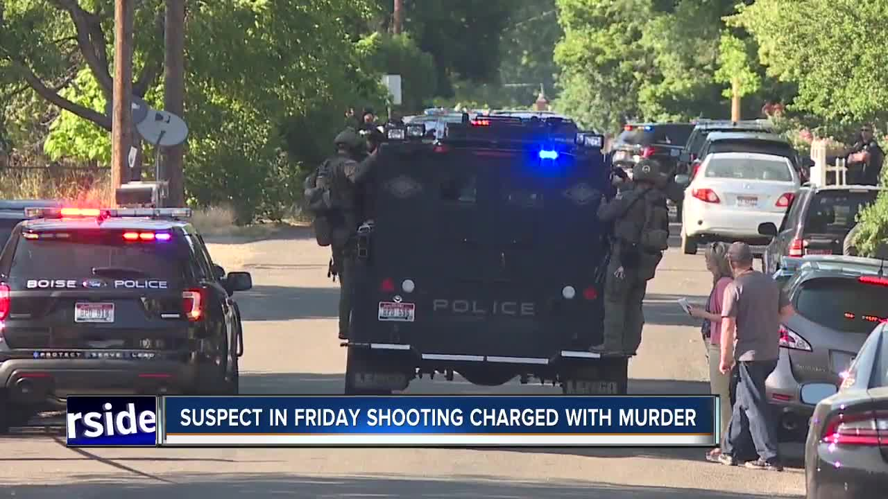 Boise Police: Suspect in Friday's Boise shooting being charged with