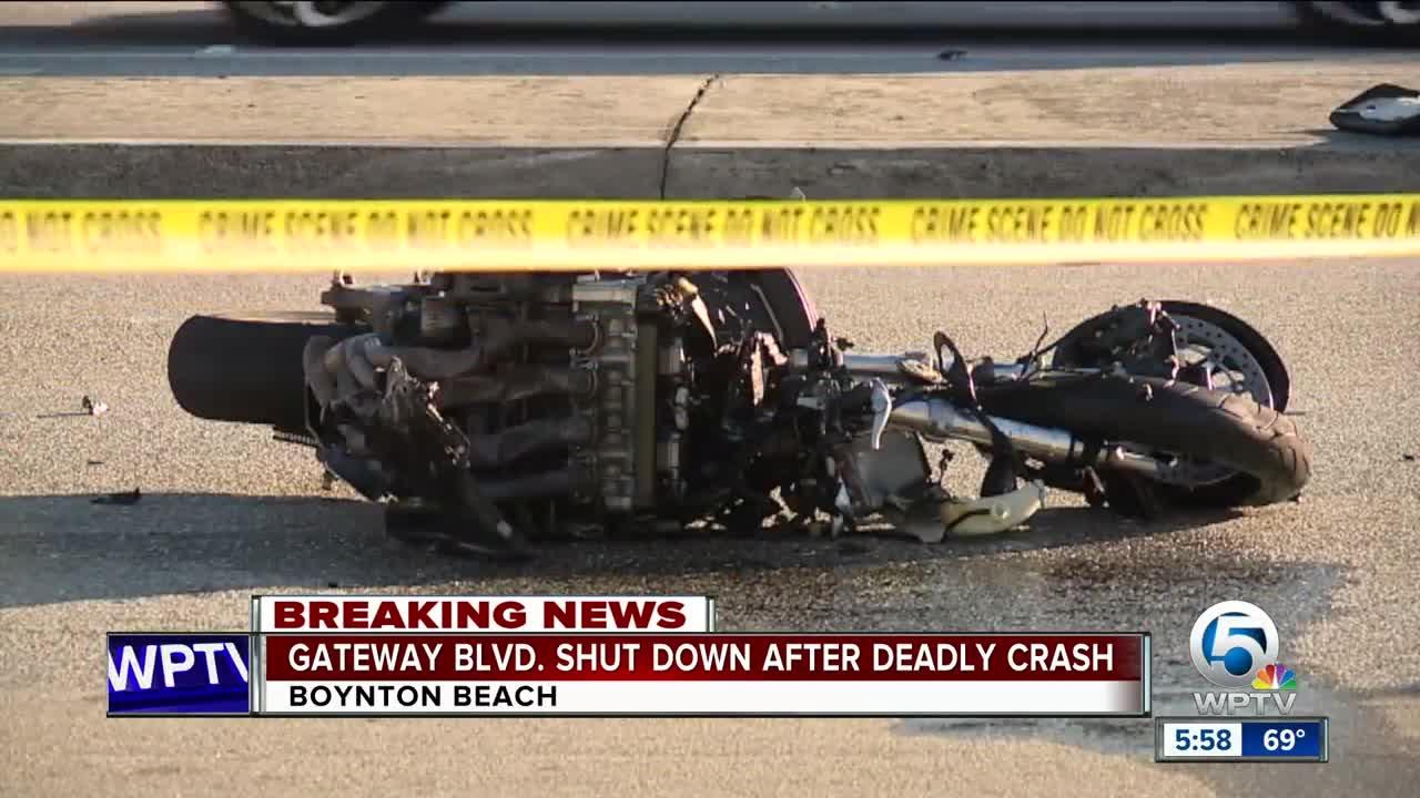 Deadly motorcycle crash in Boynton Beach