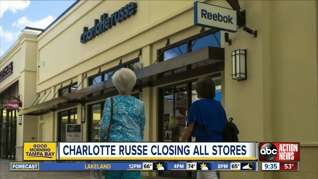 Charlotte Russe closing all stores, liquidating