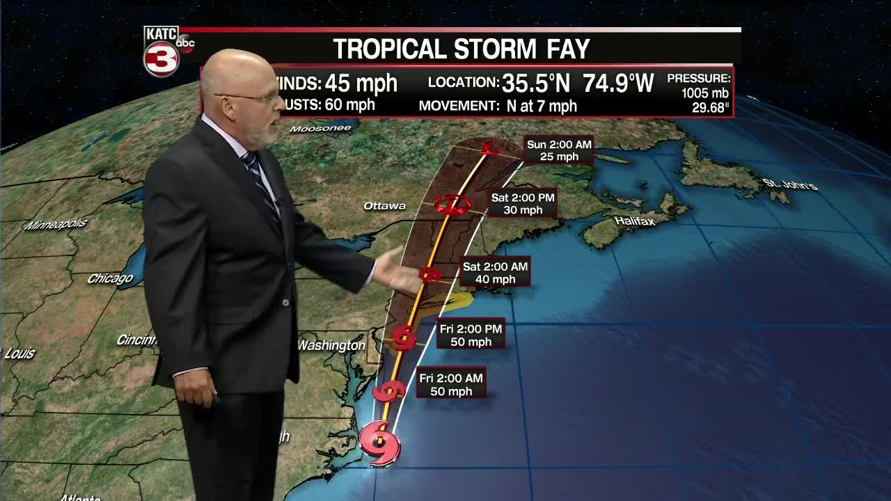 Tropical Storm Fay to Impact the Hudson Valley