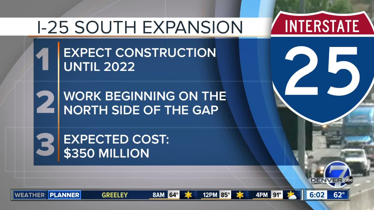 7 things to know about the I-25 Gap project including cost, closure