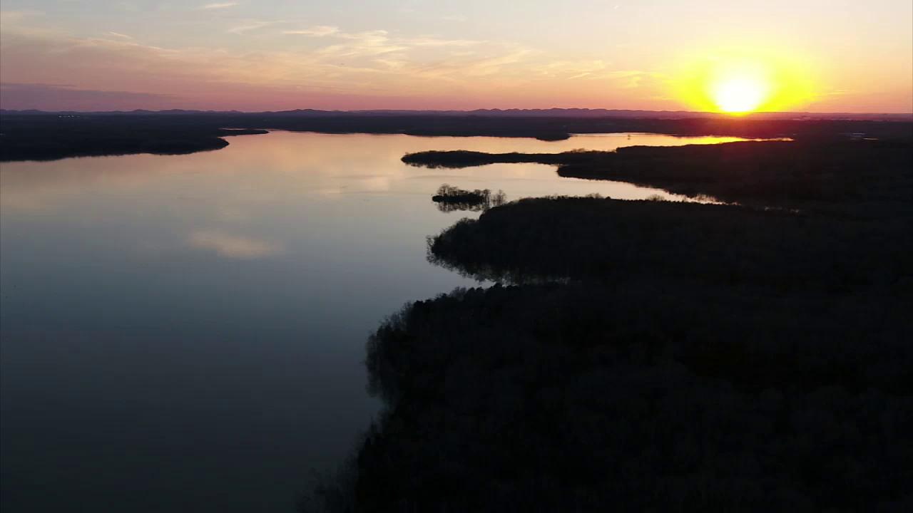FOX 17 SkyEye Drone Video: Percy Priest Sunset