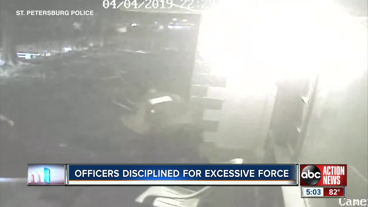 Two St  Petersburg police officers disciplined for unnecessary use