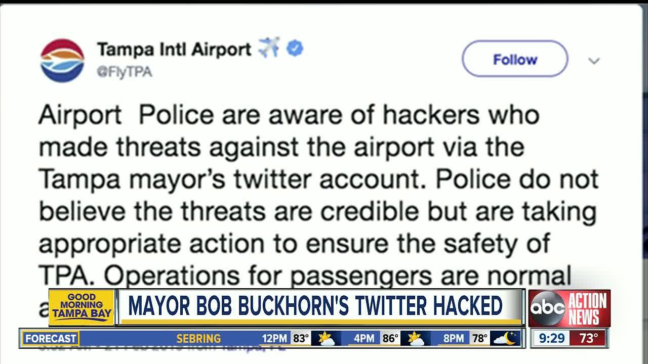 Tampa Mayor Bob Buckhorn's Twitter account hacked weeks