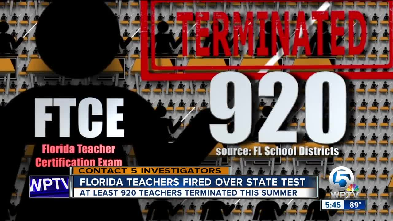 At Least 920 Florida Teachers Out Of Jobs After Failing State Test