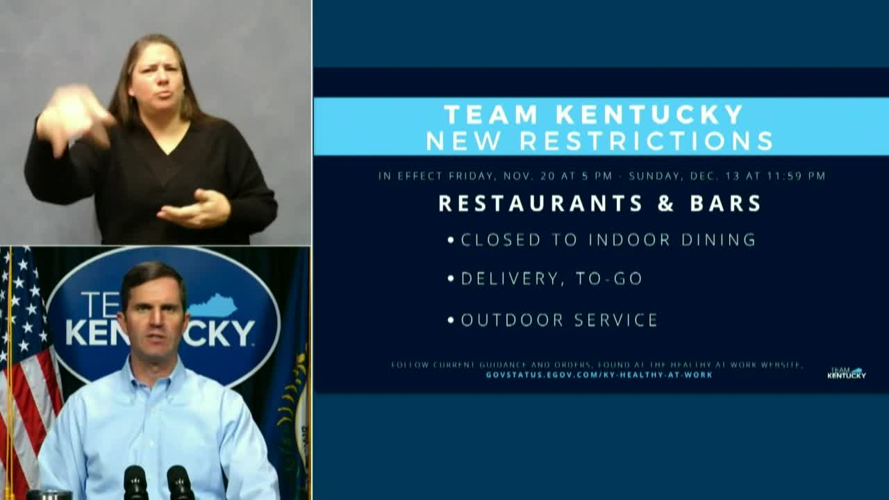 Kentucky Gov. Beshear Announces New COVID-19 Restrictions