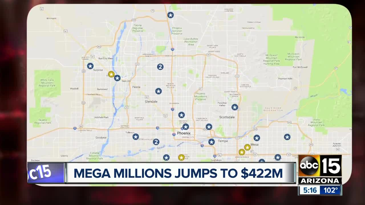 Luckiest Lottery Stores In Arizona See Where Highest Payouts Occurred