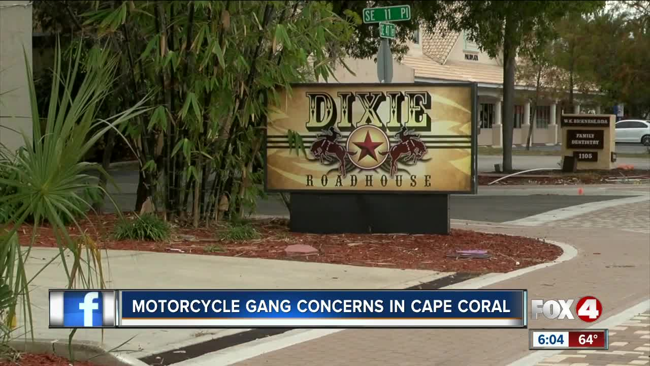 Biker gang concerns in Cape Coral amid fight at Dixie Roadhouse