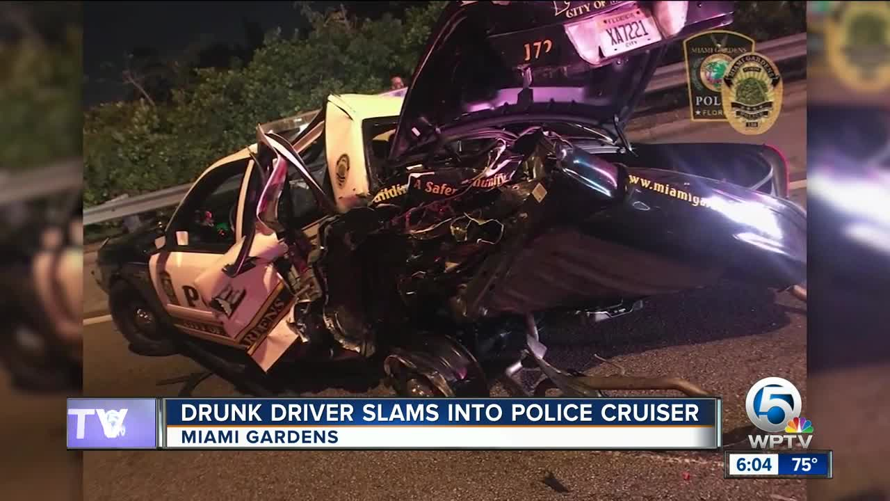 Miami Gardens police officer struck by drunk driver, police say