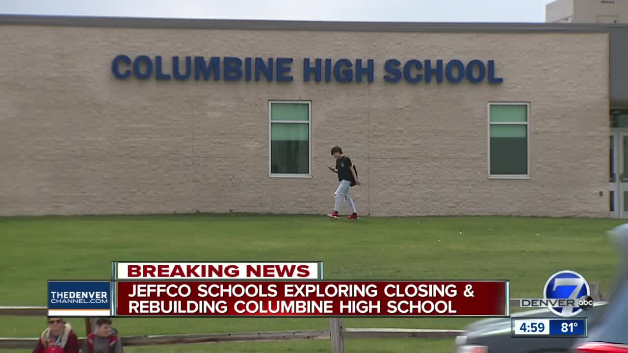 Officials mull demolishing then rebuilding Columbine High School