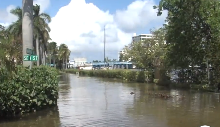 King Tide Creeps In As Delray Beach Seawall Project Inches