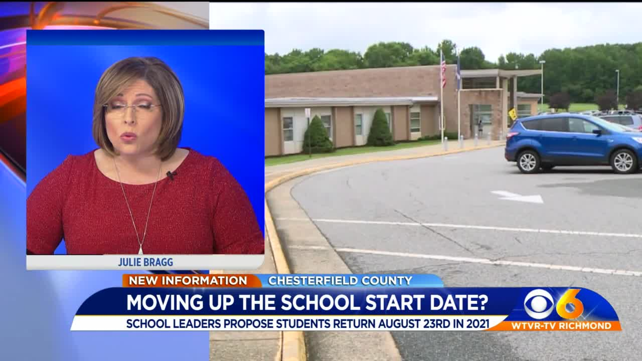 Chesterfield Schools proposing pre Labor Day start for 2021 2022